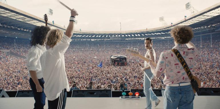 El climax de la pelicula es en el estadio Wembley