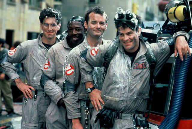 De izquierda a derecha: Harold Ramis, Ernie Hudson, Bill Murray y Dan Aykroyd, los originales Cazafantasmas de 1984.