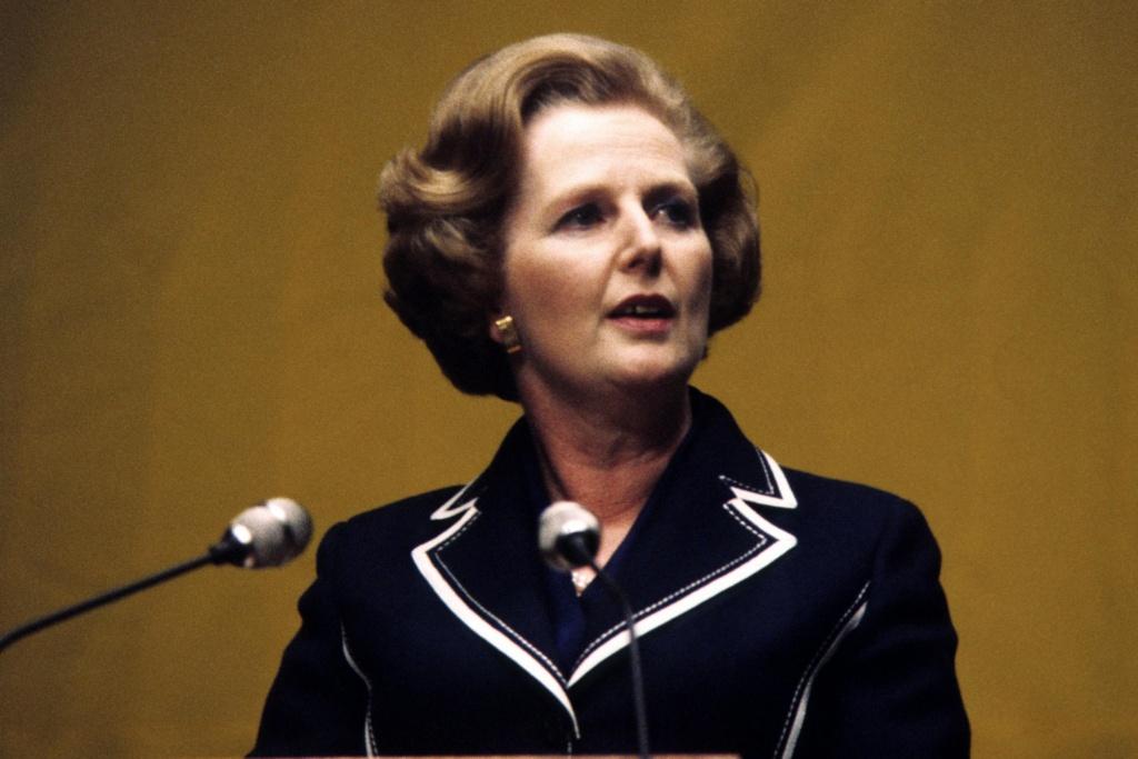 Margaret Tatcher en un discurso