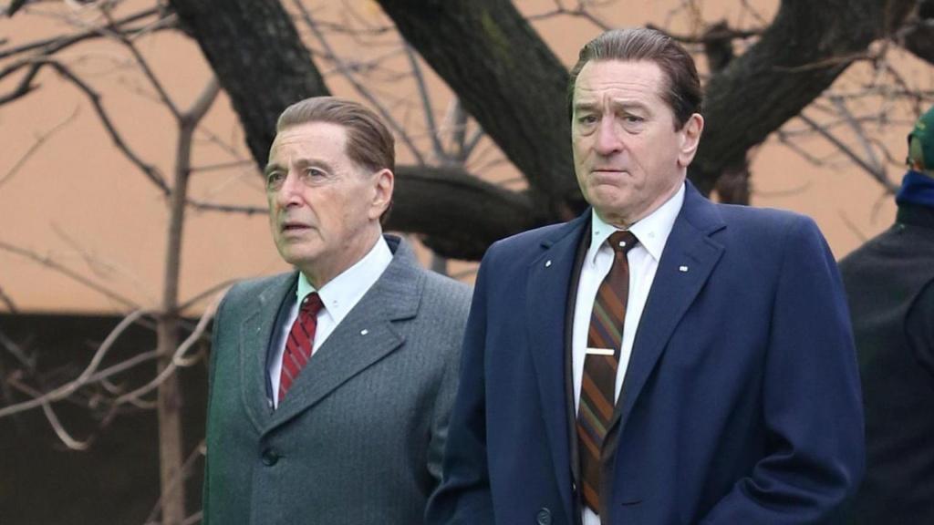Izquierda: Al Pacino. Derecha: Robert De Niro. Leyendas.