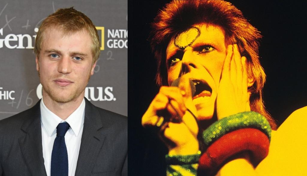 Izquierda: Foto actual de Johnny Flynn. Derecha: el icónico David Bowie.