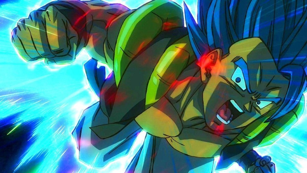 Dragon Ball Super Broly, Goku con el pelo azul