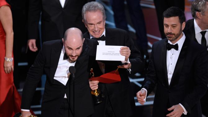 El error de La la land en los Oscars de 2017
