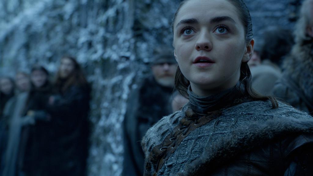 Arya ve sorprendida a los dragones / Game of thrones
