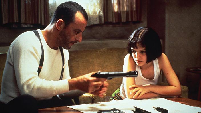 León (Jean Reno) y Mathilda (Natalie Portman) en Leon: The Professional (1994).