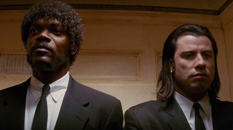 Jules Winnfield (Samuel L. Jackson) y Vincent Vega (John Travolta) en Pulp Fiction (1994).