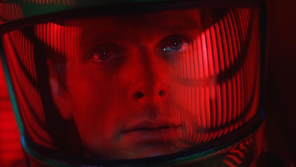Keir Dullea, uno de los astronautas protagonistas.