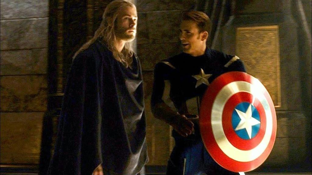 Thor y Capitan America en un cameo