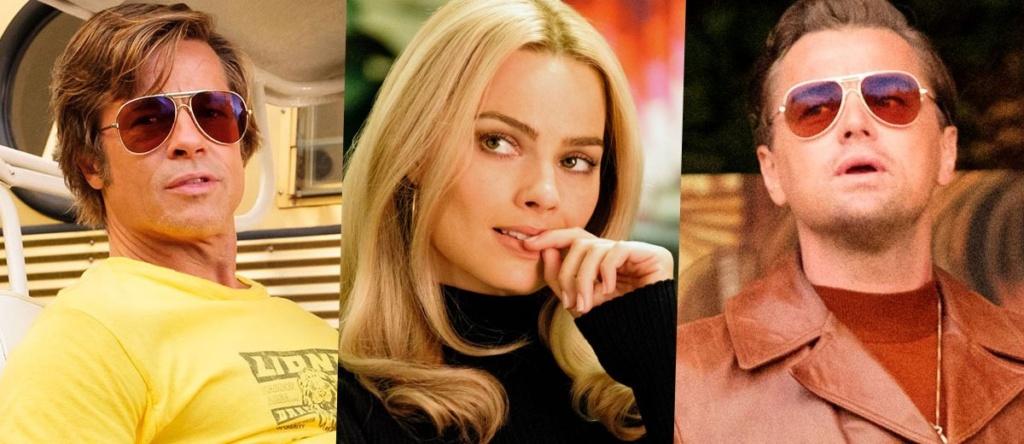 """Brad Pitt, Margot Robbie y Leonardo DiCaprio, los pilares de """"Once Upon A Time""""."""