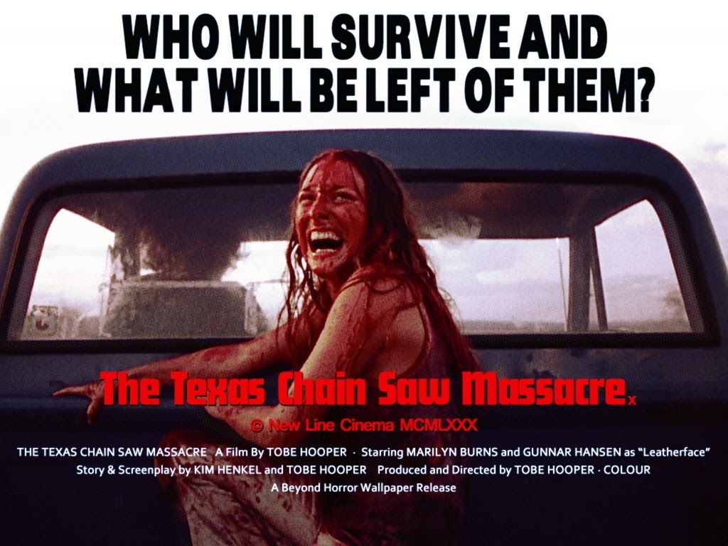 "Poster alternativo de ""The Texas Chainsaw Massacre""."