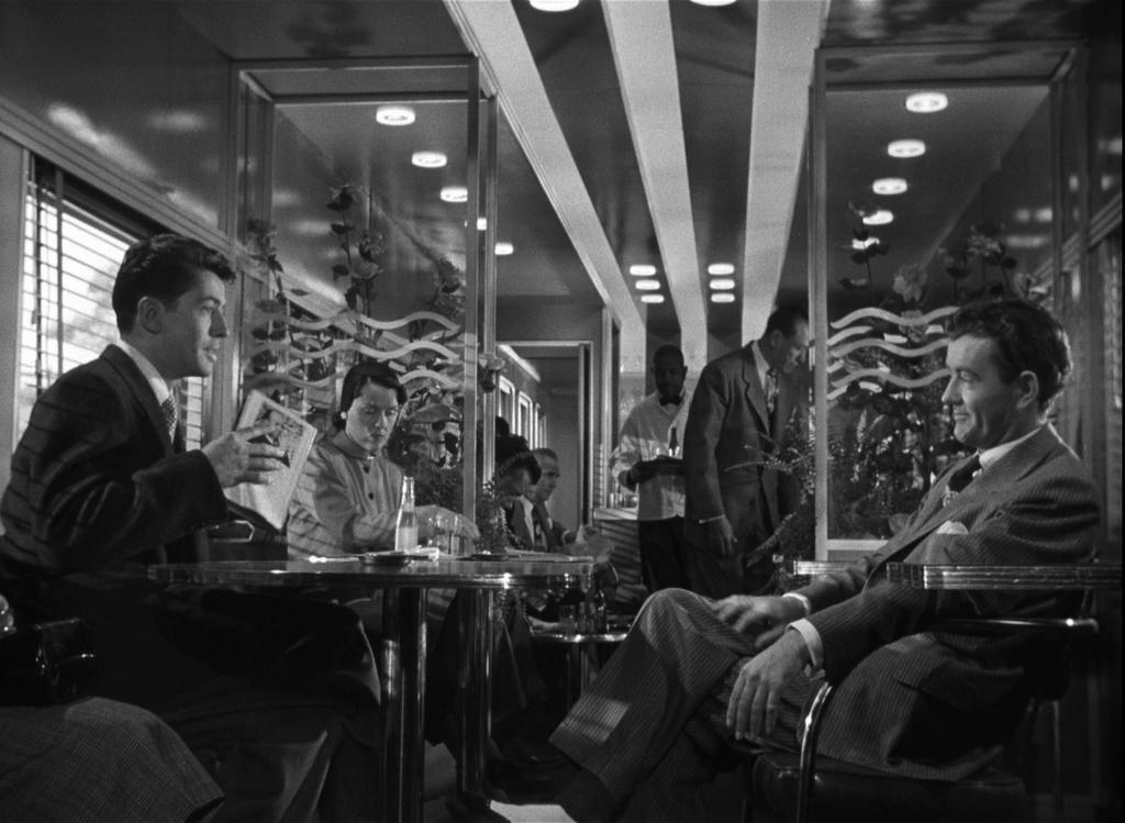Farley Granger y Robert Walker, los extraños en el tren.